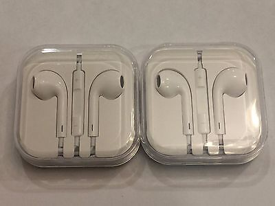 2x Genuine Apple Earpods Earphones Earbuds for iPhone 6 5 4S with Remote & Mic