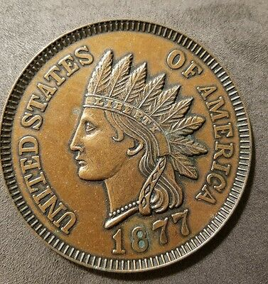 VINTAGE NOVELTY COIN COASTER 1877 indian head cent