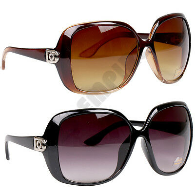 317 DG Women's Oversized Gradient Retro Designer Vintage Fashion Sunglasses
