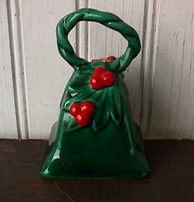 *green Holly Christmas #787 Dinner Bell Lefton Vingtage-B76-R