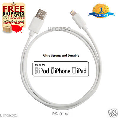 10ft Cable Apple Certified MFI Lightning Sync Data Cord Charger fr iPhone 6 6s 5