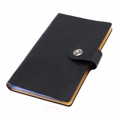 Name Card Book PU Leather Holder Business Card Organizer for 240 Cells Cards