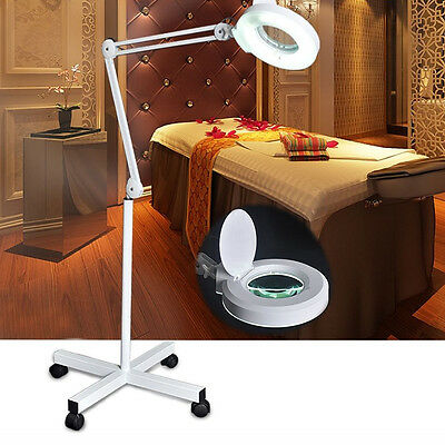 8x Magnifying Lamp Floor Mag Light with Rolling Stand For Salon Spa Equipment