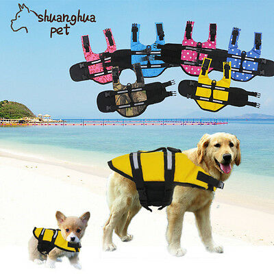 XS/S/M/L/XL Dog Saver Life Jacket Reflective Safety Swimming Buoyancy Float Vest