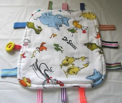 Handmade Tag Blanket/Taggie/Taggy/Security Toy Dr Seuss