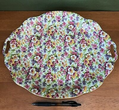 James Kent X Large Server Tray Dish in Du Barry Chintz China NEW