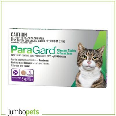 Paragard Allwormer For Cats and Kittens 5kg 4 tablets