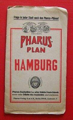 Pharus-Plan Hamburg 1927 Stadtplan