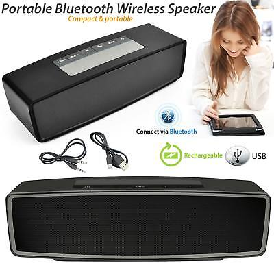 New Rechargeable Wireless Bluetooth Speaker Portable Stereo Support TF+AUX USB