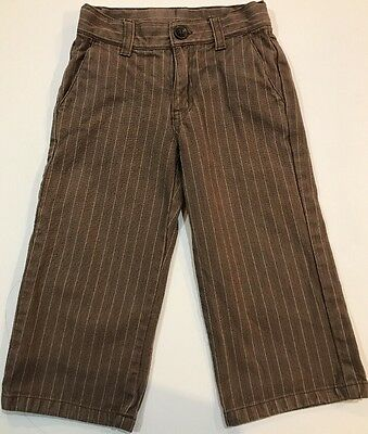 JANIE and JACK  Boys Jeans SIZE  2T  Tan W/ Stripes Excellent Condition
