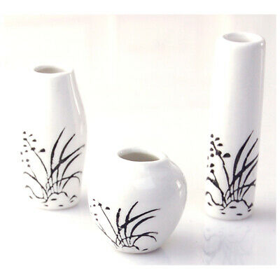 1/12 Dollhouse Miniatures China Porcelain Ceramic Vase Set 3PCS   OV005