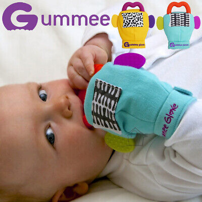 NEW Gummee Glove Teething Mitten Teether Ring Food-grade Silicone Baby 3-6 mnths