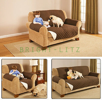 1-3Seaters Quilted Slipcover Lounge Chair Kid Pet Water/Dirt Protector Cover Mat