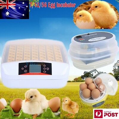 Eggs Incubator Fully Automatic Digital Turner Chicken Poultry Duck 7/12/56 Eggs
