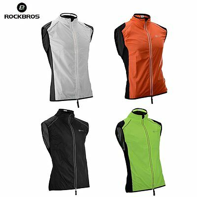 Rockbros Mens Cycling Vest Wind Vest Windvest Windproof Reflective Vest