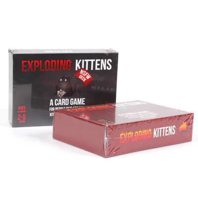 Exploding Kittens Card Game Cat Goats Laser Beams Family Friends Bithday Game