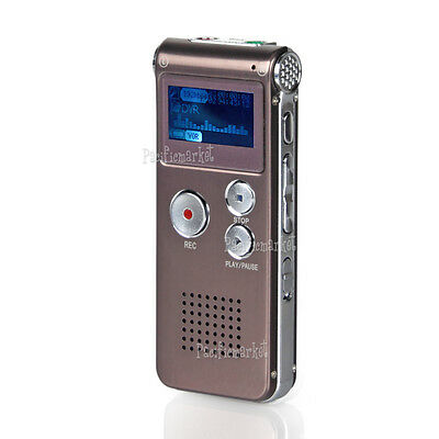 16GB USB Digital Sound Voice Recorder Dictaphone MP3 Player Record Rechargeable