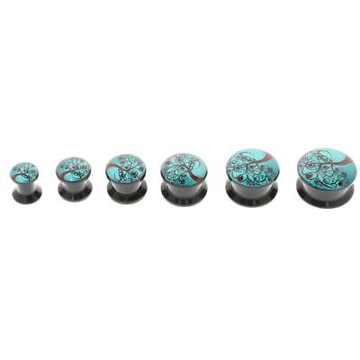 12PcsTree of Life Ear Tunnel Plugs Expander Stretcher Body Jewelry 6-16mm
