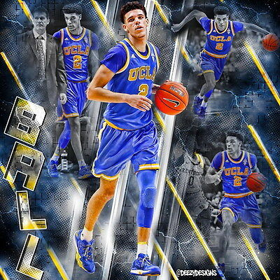 "005 Lonzo Ball - LA LAKERS NBA Basketball Player 14""x14"" Poster"