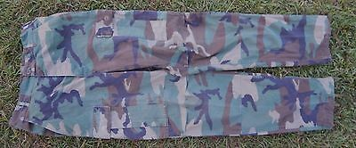 US ARMY Issue Woodland Camo Combat Pants Trousers SMALL Long Unicor