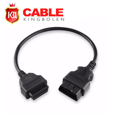 16Pin Male Obd2 To 16Pin Female OBD2 Extension Car Cable OBDII Adapter