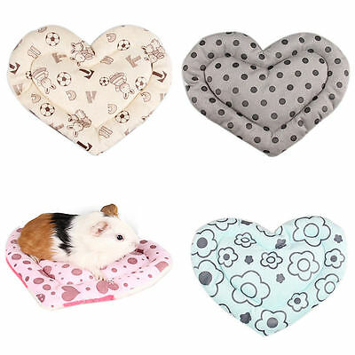 Soft Heart Design Beds for Small Animal Hamster Mat Guinea Pig Rabbit Cage Mat