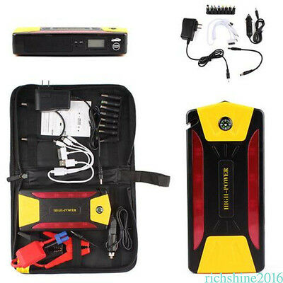 Portable Car Jump Starter Pack Booster Charger Battery Power Bank 82800mAh 4USB
