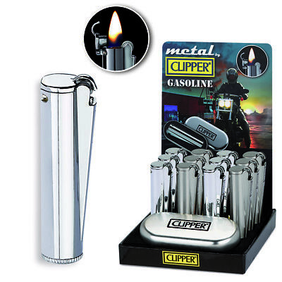 Clipper Large Metal Gasoline - 1 Accendino
