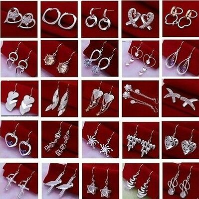XMAS Special Price fashion designs womens Ladies silver Earrings Ear Hooks+925B