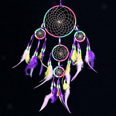Colorés en plumes Dream Catcher Wall Hanging Decor Car Home Ornament Craft