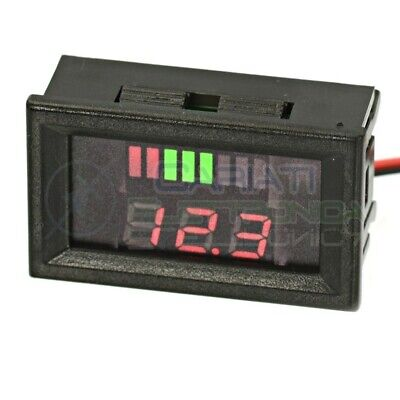 INDICATORE DI LIVELLO BATTERIA VOLTMETRO Display led per batterie a piombo 12V