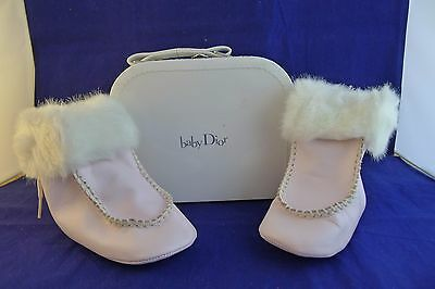 """Dior baby girl pink boots""""New Rose Cute"""" size EU 20, UK 4, 12-18 months"""