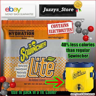 Sqwincher® Lite Naturally Sweetened Orange 11L pack for Bulk coolers