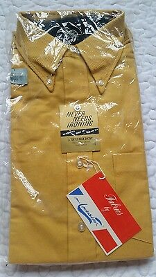 Traditional Vintage NWT Mustard Yellow Button Up w/ Black Turtle Neck Set Medium