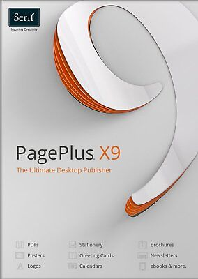 All New Serif PagePlus X9 RRP £89.99 Only £28.99 with a free - 135 page book