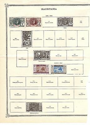 MAURITANIA Four Vintage Hinged STAMPS ON PAGE