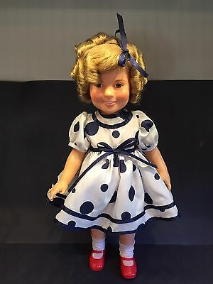 """Ideal SHIRLEY TEMPLE Doll 16"""" Stand up and Cheer 1972 Never Played W Blue Dress"""
