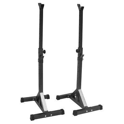 Heavy Duty Adjustable Gym Squat Barbell Power Rack Stand Weight Bench Support NR