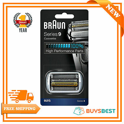 Braun Series 9 Electric Shaver Replacement Foil Cassette Cartridge Silver COM92S