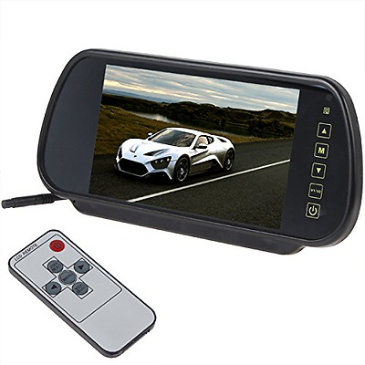 BW 7 Inch 16:9 TFT LCD Widescreen Car Monitor Car Rear View Mirror with Touch Bu