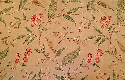 LEE JOFA Floral Linen green pink brown 2+ yards new