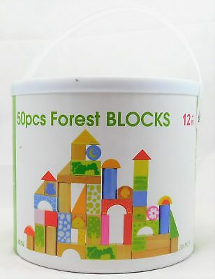 Wooden Forest building 50 Pieces Building Blocks Great Toy For Educational Learn