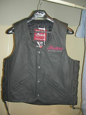 Indian Motorcycle Leather Vest - Medium