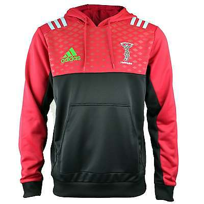 Adidas Harlequins Performance Hoody - Black and Red