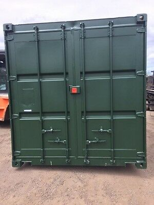 30ft Long 8ft Wide Green Grade a Steel Storage Container - Store