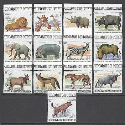 Burundi 1983 Wwf Animals Issue Nº 864/876