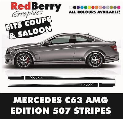 005 Amg 507 Side Stripe Decal - Mercedes Benz C63 Edition 1 Class Design Vinyl