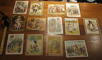 "Antique Trade Lot of 13 McLaughlin's Coffee ad cards  5.5"" x 7"""