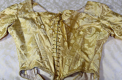 18th Century English Silk Ball Gown Dress Decronstructed for Re Working