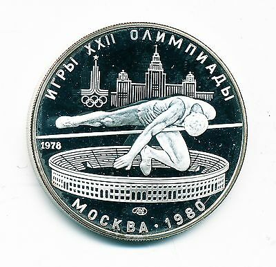 1978 Impaired Proof Ussr (Russia) Silver 5 Roubles - High Jumping, Y #156